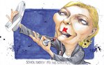 Robitzkys Welt 65 Schick machen.-2017 (Marine Le Pen)